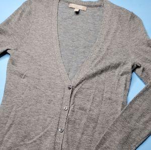 3/30$   banana republic grey italian yarn cardigan